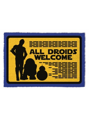 Felpudo coco Star Wars All Droids Welcome