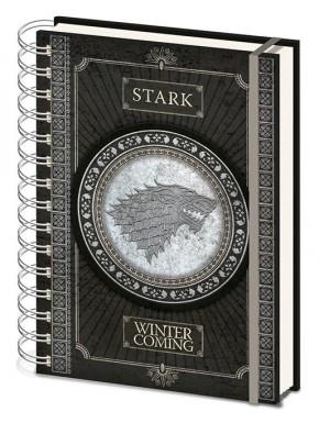 Libreta Cuaderno A5 Juego de Tronos Stark