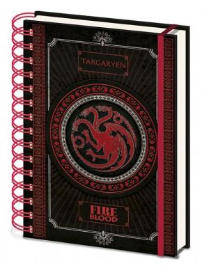 Libreta Cuaderno A5 Juego de Tronos Targaryen