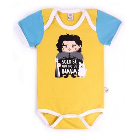 Body bebé Jon Nieve Juego de Tronos Solo sé que no sé nada