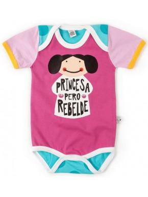 Body bebé Leia Princesa Pero Rebelde Star Wars