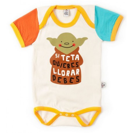 Body bebé Yoda Si Teta Quieres Llorar Debes Star Wars