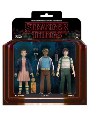 Pack 3 figuras articuladas Stranger Things Eleven, Mike y Lucas