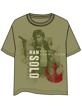 Camiseta Star Wars Han Solo Rebel Commander