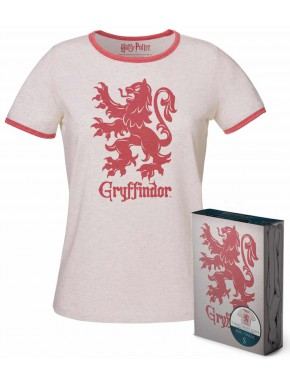 Camiseta Chica Gryffindor Harry Potter Blanca