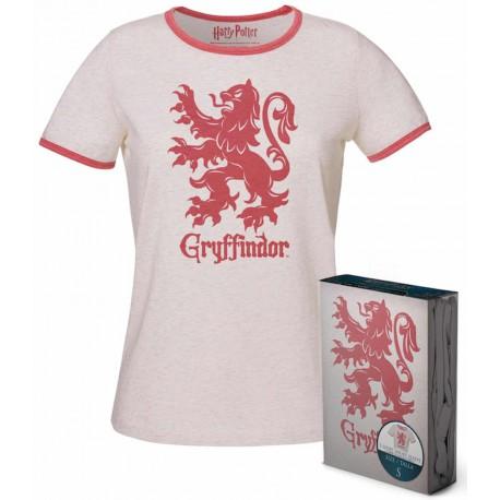 Camiseta Chica Gryffindor Harry Potter Blanca
