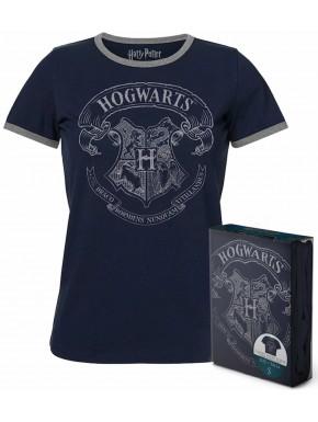 Camiseta Chica Hogwarts Harry Potter Azul