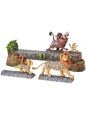 Set de de Figuras Disney El Rey León Jim Shore Simba, Timon, & Pumbaa