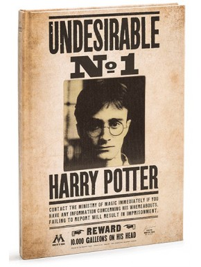 Libreta 3D Harry Potter Indeseable