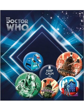 Chapas retro Doctor Who