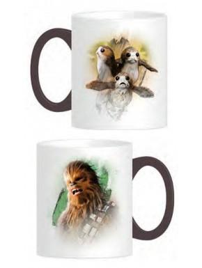 Taza Chewbacca y Porgs Star Wars