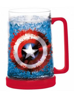 Jarra Capitán América Marvel Congelable