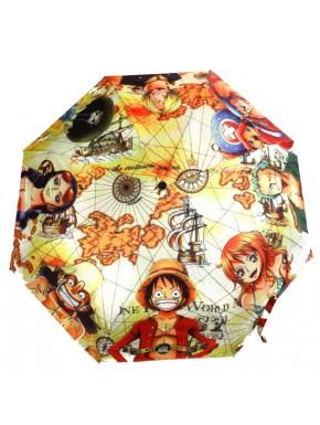One Piece paraguas mapa