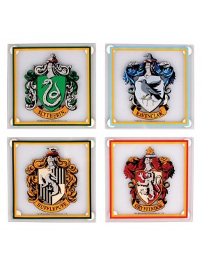 Set de 4 posavasos Casas Hogwarts Harry Potter