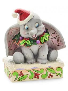 Figura Dumbo Navidad Disney Jim Shore 75 Aniversario 13 cm