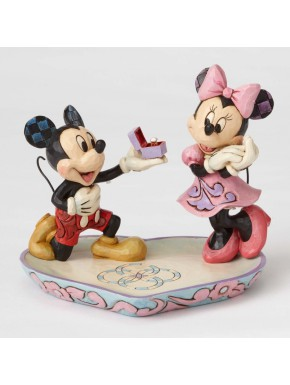 Figura Mickey Mouse & Minnie Mouse Jim Shore Ring Dish