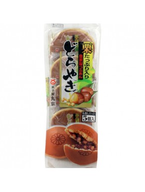 Dorayakis de pasta de Azuki con castañas  Marukyo
