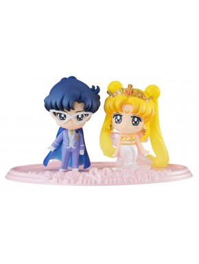 Set 2 Figuras Sailor Moon Petit Chara Neo Queen Serenity & King Endymion