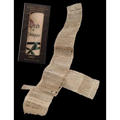 Réplica Contrato de Bilbo El Hobbit