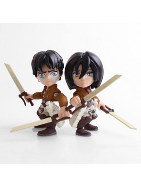 Pack 2 Figuras Eren & Annie Attack on Titan 8 cm