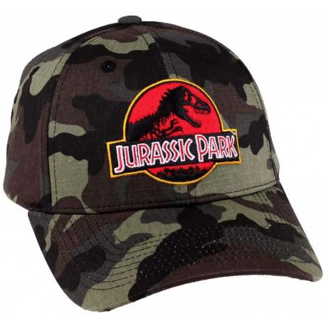 Gorra Béisbol Jurassic Park Logo Camuflaje