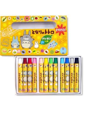 Set 12 Ceras de Colores Totoro Ghibli