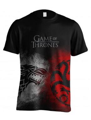 Camiseta Juego de Tronos Stark y Targaryen Face Off