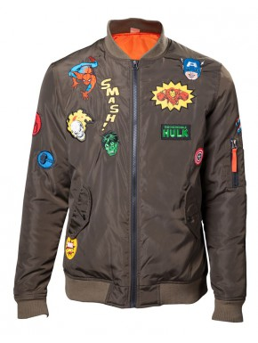 Chaqueta Bomber Chico Marvel Parches