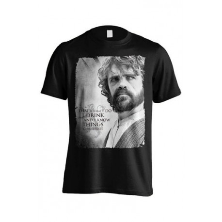 Camiseta Tyrion I drink and I know things Juego de Tronos