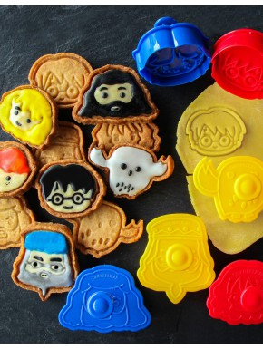 Set sellos para Galletas Harry Potter Kawaii