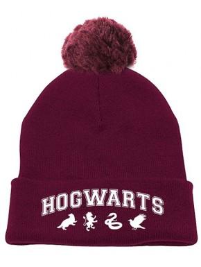 Gorro Hogwarts con pom-pom