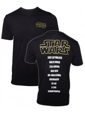 Camiseta Star Wars Logo y Personajes