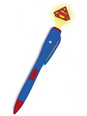 Bolígrafo Superman con Luz Proyector