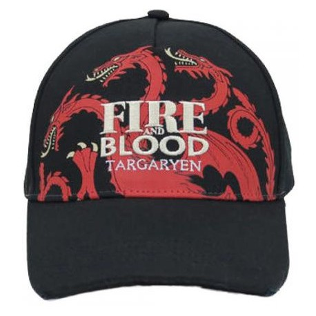 Gorra Targaryen Juego de Tronos Fire and Blood