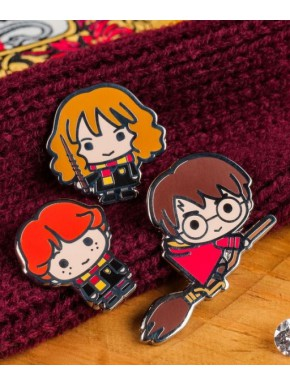 Pack Pins Harry Potter Hermione y Ron Kawaii