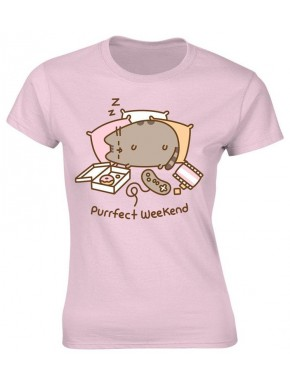 Camiseta chica Pusheen Purrfect Weekend