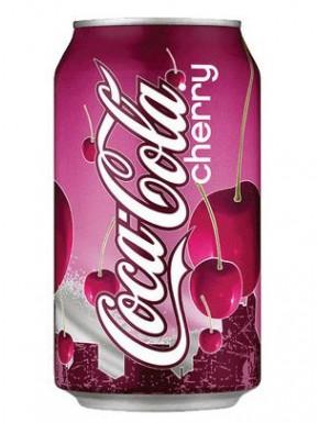 Cherrycola Coca Cola Sabor Cereza Refresco 355 ml CONSUMO PREFERENTE 23/11/2021