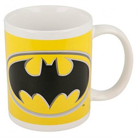 Taza Batman Dc Logo Amarillo