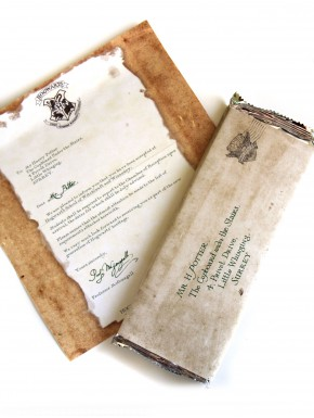 Chocolate Carta Hogwarts Harry Potter