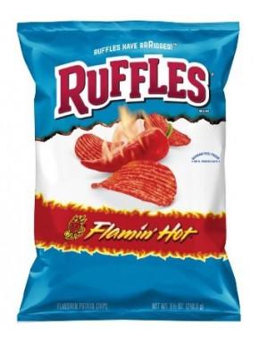Ruffles picantes sabor Flamin Hot