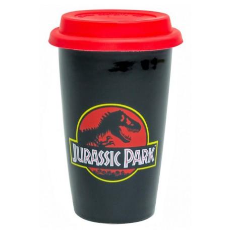 Taza de Viaje Jurassic Park Logo Clásico