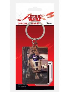 Llavero Metal Star Wars R2-D2 y Porgs