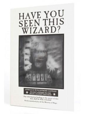 Libreta 3D Harry Potter Sirius Black Wanted