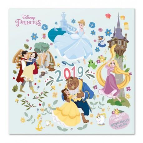 Calendario pared 2019 Princesas Disney