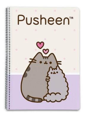Cuaderno espiral Pusheen Love Pautado