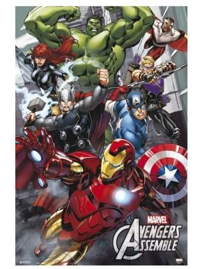 Póster Vengadores Marvel Avengers Assemble  61 x 91 cm