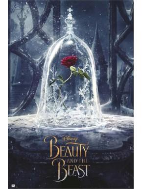 Póster La Bella y la Bestia Rosa Disney 61 x 91 cm