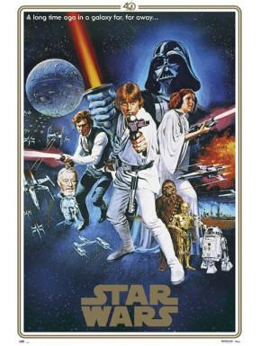 Poster Star Wars Classic 40 Aniversario