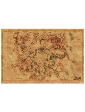 Zelda Póster Mapa de Hyrule Breath of the Wild