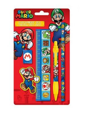 Super Mario Juego de 5 Piezas Para Escribir